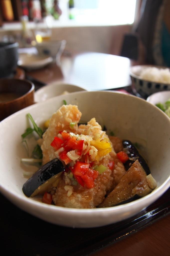 やぐや_白身魚香味ダレ定食1
