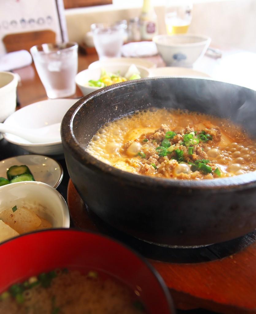 やぐや_麻婆豆腐定食1
