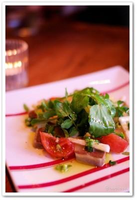 Passion_寒ブリの燻製と山芋のサラダ