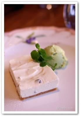 Passion_ゴルゴンゾーラのレアチーズケーキ