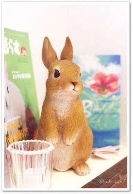 CafeMignon_ウサギの置物2
