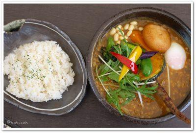 スープカリー侍_ひき肉温玉納豆と野菜